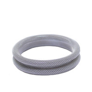 Rhodium Rolled Mesh Bangle