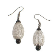 Silver & Nickel Drop Earrings