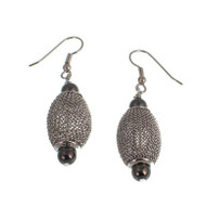 Rhodium & Nickel Drop Earrings