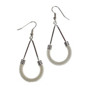 Silver New Mesh Earrings