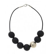 Metal Ball w/ Resin Balls Necklace