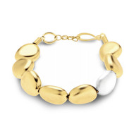 Gold Pebbles with Silver Accent Bracelet