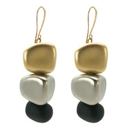 Triple Drop Pebble Earrings