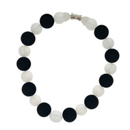 Black & White Rubber Bead Necklace