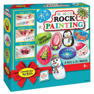 Holiday Hide and Seek Rock Painting
