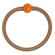 Tubino Bracelet Gold/Amber Murano Glass Bead