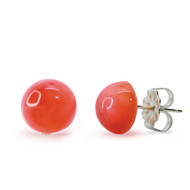 Pink Opal Mini Stud Earrings