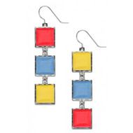Bauhaus Color Wheel Earrings