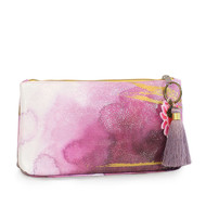 Small Tassel Pouch | Plum Watercolor