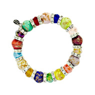 Luna Murano Glass Bracelet, Multi