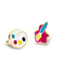 Paint Brush & Palette Earrings
