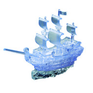 Clear Pirate Ship Crystal Puzzle