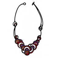 Purple Dancing Circles Necklace