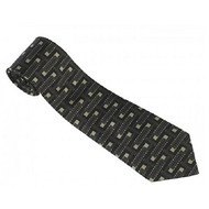 Frank Lloyd Wright Textile Block Design Tie Black