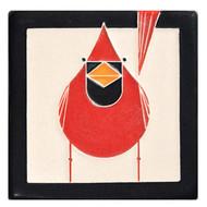 Motawi Tileworks Charley Harper Cardinal Tile