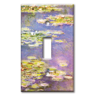 Switch Plate Single Monet Water Lilies