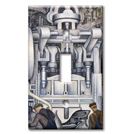 Switch Plate Single Diego Rivera South Wall Detroit Industry Murals