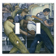 Switch Plate Double Diego Rivera North Wall Detroit Industry Murals