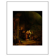 The Visitation, by Rembrandt, Archival Print