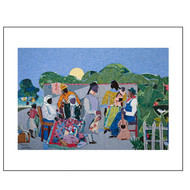 Quilting Time, by Romare Bearden, Archival Print