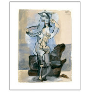 Bather by the Sea by Pablo Picasso Archival Print