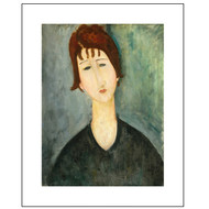 A Woman, by Modigliani, Archival Print