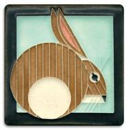 Motawi Tileworks Charley Harper Hare Tile Light Blue