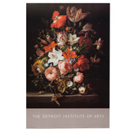 Flowers in a Glass Vase by Rachel Ruysch Poster