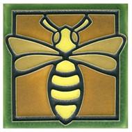 Motawi Tileworks Bee Tile Green