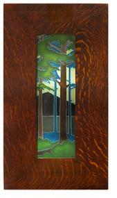 Motawi Tileworks Pine Landscape Framed Tile