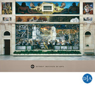 Diego Rivera Detroit Industry Murals North Wall Poster