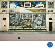 Diego Rivera Detroit Industry Murals South Wall Poster
