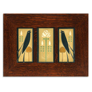 Motawi Tileworks Songbirds with Long Stem Framed Set