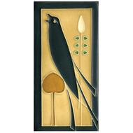 Motawi Tileworks Songbird Tile Golden Facing Left