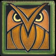 Motawi Tileworks Owl Tile Green Oak