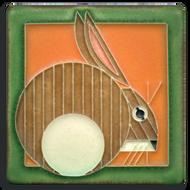 Motawi Tileworks Charley Harper Hare Tile Carrot