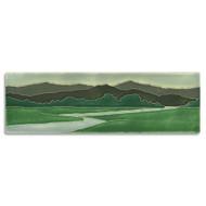 Motawi Tileworks Green Riverscape Tile