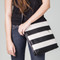 This is the striped Streamline Crossbody bag. Shown to illustrate size of the bag.