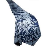 Diego Rivera Detroit Industry Murals Tie - Blue