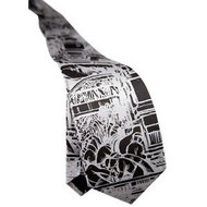 Diego Rivera Detroit Industry Murals Tie - Black