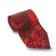 Diego Rivera Detroit Industry Murals Tie - Red