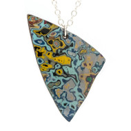 Rebel Nell Graffiti Pendant Necklace Shark Fin