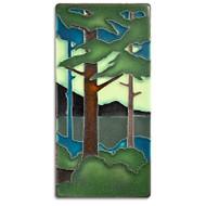 Motawi Tileworks Pine Landscape Tile Summer Vertical