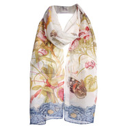 Still Life with Butterfly Silk Chiffon Scarf