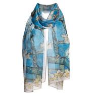 Van Gogh Almond Blossom Silk Chiffon Scarf