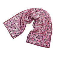 Mackintosh Rose and Teardrop Crepe de Chine Scarf