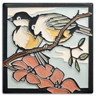 Motawi Tileworks Yoshiko Yamamoto Spring Chickadees Tile