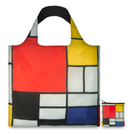Composition with  Red, Yellow, Blue, and Black Tote Bag