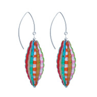 Murano Glass Millefiori Earrings Rainbow