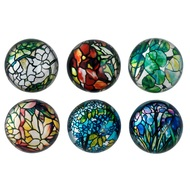 Tiffany Stained Glass Domed Magnets